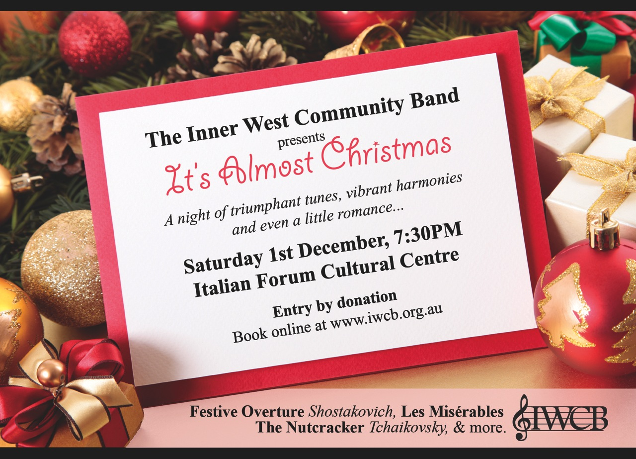 It\'s Almost Christmas – Inner West Community Band